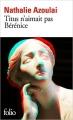 Couverture Titus n'aimait pas Bérénice Editions Folio  2017