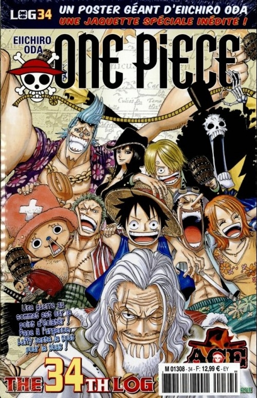 Couverture One Piece, Log, tome 34
