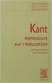 Couverture Réflexion sur l'éducation Editions Vrin (Librairie philosophique) 2004