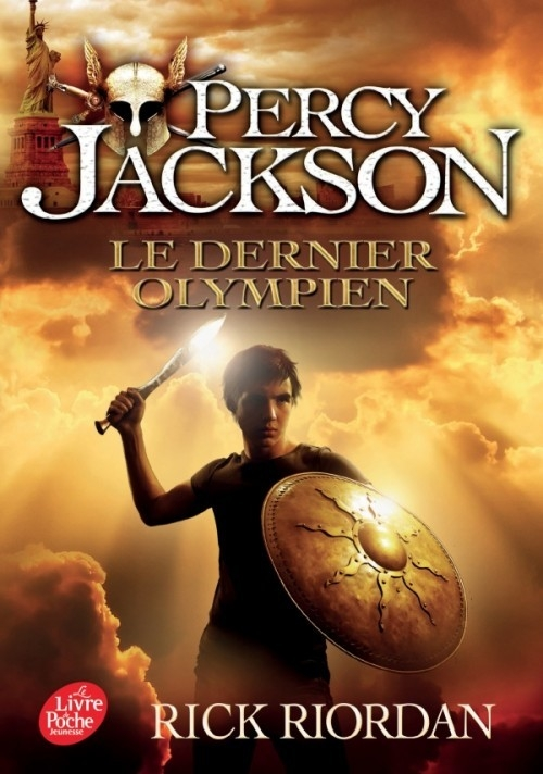 Couverture Percy Jackson, tome 5 : Le dernier olympien