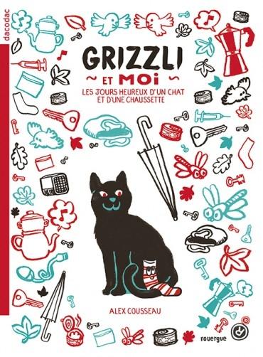 Couverture Grizzli et moi : Les jours heureux d'un chat et d'une chaussette