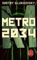 Couverture Métro 2034 Editions Le Livre de Poche 2017