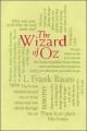 Couverture Le magicien d'Oz Editions Thunder Bay Press (Word Cloud Classics) 2013
