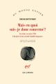 Couverture Mais en quoi suis-je donc concerné ? : Un crime en mars 1945. L'histoire d'une grande famille hongroise Editions Gallimard  (Du monde entier) 2017