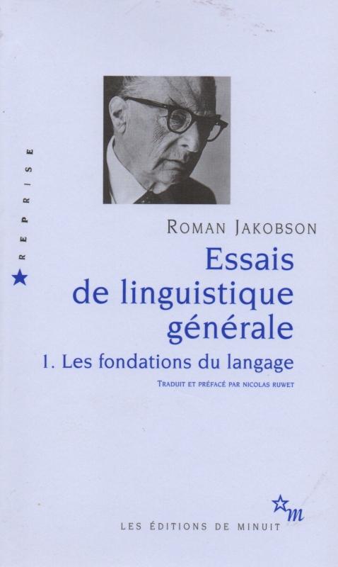 Couverture Essais de linguistique générale, tome 1 : Les fondations du langage