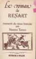 Couverture Le roman de Renart / Roman de Renart Editions Stock (Moyen-Âge) 1979