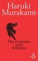 Couverture Des hommes sans femmes Editions Belfond 2017