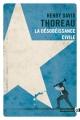 Couverture La désobéissance civile Editions Gallmeister (Totem) 2017