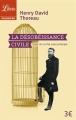 Couverture La désobéissance civile Editions Librio (Philosophie) 2016