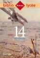 Couverture 14 Editions Hachette (Biblio lycée) 2016