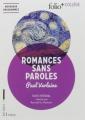 Couverture Romances sans paroles Editions Folio  (+ Collège) 2017
