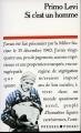 Couverture Si c'est un homme Editions Presses Pocket 1988