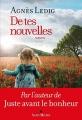 Couverture De tes nouvelles Editions Albin Michel 2017
