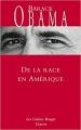 Couverture De la race en Amérique Editions Grasset (Les Cahiers Rouges) 2017