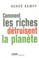Couverture Comment les riches détruisent la planète Editions Seuil (Histoire) 2007