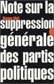 Couverture Note sur la suppression générale des partis politiques Editions Allia (Petite Collection) 2017