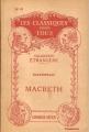 Couverture Macbeth Editions Hatier (Les Classiques pour tous - Etrangère) 1931