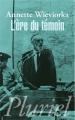 Couverture L'ère du témoin Editions Fayard (Pluriel) 1998