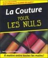 Couverture La couture pour les nuls Editions First (Pour les nuls) 2006