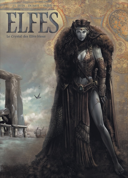Couverture Elfes, tome 01 : Le crystal des elfes bleus