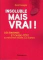Couverture Insoluble mais vrai ! Editions Flammarion 2017