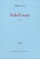 Couverture Soleil noir Editions Mercure de France (Bleue) 2000