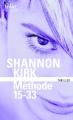 Couverture Méthode 15-33 Editions Folio  (Thriller) 2017