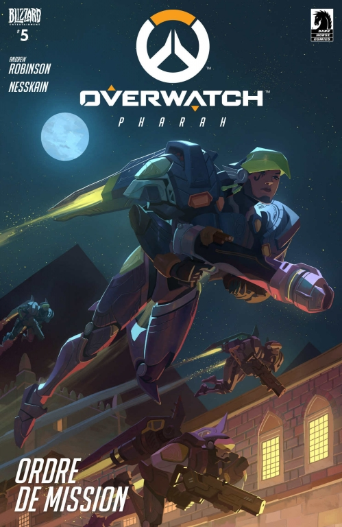 Couverture Overwatch #5, Pharah: Ordre de Mission