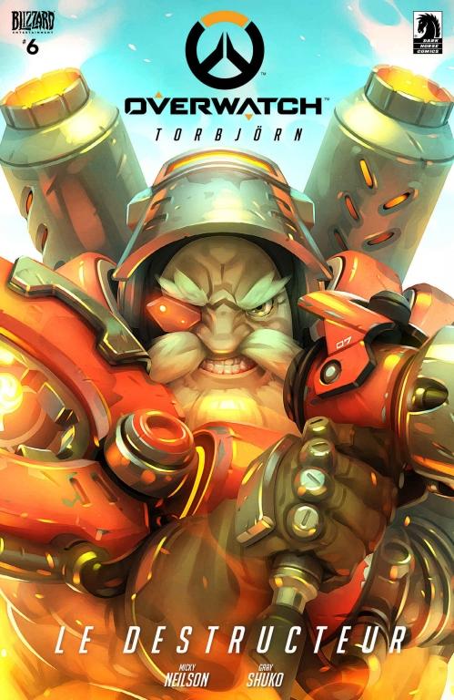 Couverture Overwatch #6, Torbjörn: Le Destructeur
