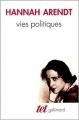 Couverture Vies politiques Editions Gallimard  (Tel) 1986