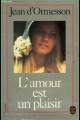 Couverture L'amour est un plaisir Editions Le Livre de Poche 1956