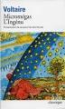 Couverture Micromégas, L'Ingénu Editions Folio  (Classique) 2006