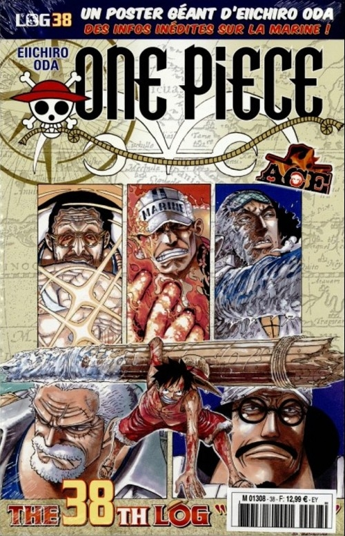 Couverture One Piece, Log, tome 38