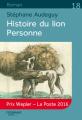 Couverture Histoire du lion Personne Editions Feryane 2017