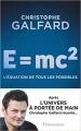 Couverture E= Mc2 : l'équation de tous les possibles Editions Flammarion 2017