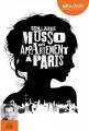 Couverture Un appartement à Paris Editions Audiolib 2017