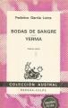 Couverture Noces de sang et Yerma Editions Espasa (Austral) 1979