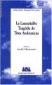 Couverture Titus Andronicus Editions Les Solitaires Intempestifs 2003