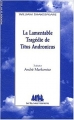 Couverture Titus Andronicus Editions Les Solitaires Intempestifs 2003