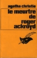 Couverture Le meurtre de Roger Ackroyd Editions Librairie des  Champs-Elysées  (Le masque) 1974
