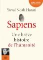 Couverture Sapiens : Une brève histoire de l'humanité Editions Audiolib 2017