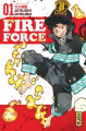 Couverture Fire force, tome 01 Editions Kana (Shônen) 2017