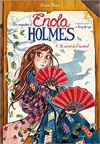 Couverture Les enquêtes d'Enola Holmes (BD), tome 4 : Le secret de l'éventail