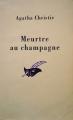Couverture Meurtre au champagne Editions Librairie des  Champs-Elysées  (Le masque) 2000
