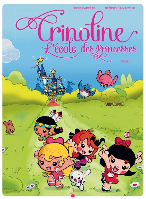 Couverture Crinoline : L'école des princesses, tome 1 : Oh, les amoureux !