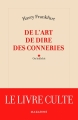 Couverture De l'art de dire des conneries Editions Mazarine 2017