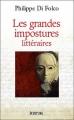 Couverture Les grandes impostures littéraires Editions Écriture 2006