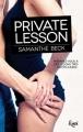 Couverture Private lesson Editions JC Lattès (&moi) 2017