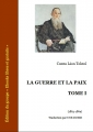 Couverture La guerre et la paix (3 tomes), tome 1 Editions Ebooks libres et gratuits 2012