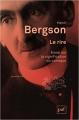 Couverture Le rire : Essai sur la signification du comique Editions Presses universitaires de France (PUF) (Quadrige) 2012